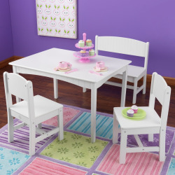 KidKraft Nantucket Table and Chairs Set, Multicolor