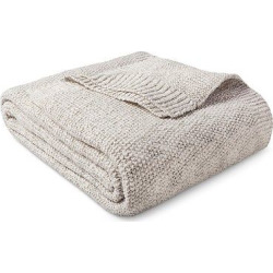 Sweater Knit Blanket Hot Coffee & Sour Cream (King) – Threshold, Sour Cream/Hot Coffee