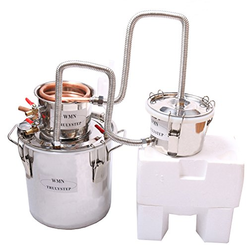3 Pots DIY 3 Gal 12 Litres Copper Alcohol Moonshine Ethanol Still Spirits Boiler Water Wine Distiller