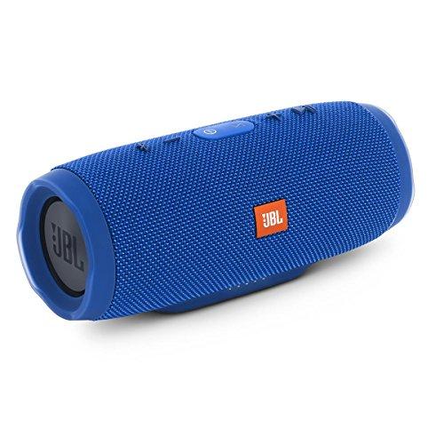 JBL Charge 3 Waterproof Bluetooth Speaker -Blue (Certified Refurbished)