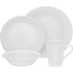 Corelle Embossed 16pc Dinnerware Set Bella Faenza, White