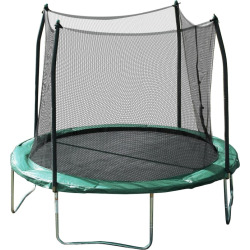 Youth Skywalker Trampolines 10-ft. Round Trampoline with Enclosure Net, Green