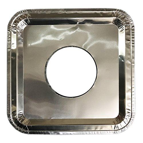 1000 Pcs Aluminum Foil Square Gas Burner Disposable Bib Liners Covers