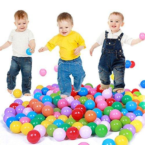 E Support™ 3000PCS Colorful Plastic Ball Pit Balls Baby Kids Tent Swim Toys Ball Pool Ball Ocean Ball