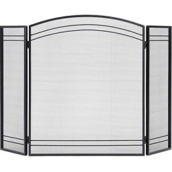Shelter Logic Classic Fireplace Screen – Black