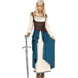 Women's Viking Queen Costume Small, Multicolored