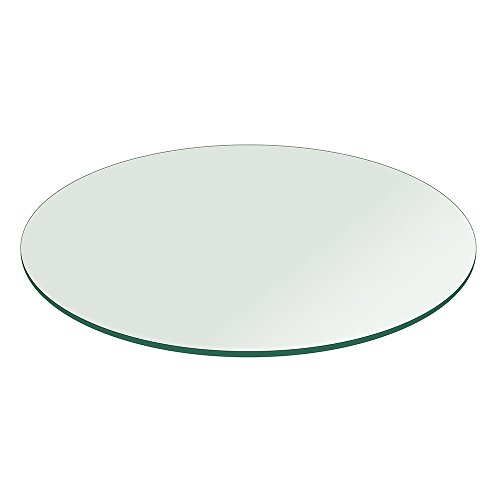Fab Glass and Mirror Table Top 1/2″ Thick Flat Polished Tempered, Round, 60″ L