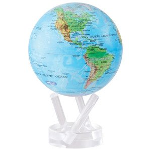6″ Blue with Relief Map MOVA Globe