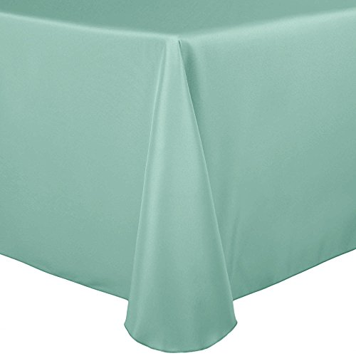 Ultimate Textile (60 Pack) 52 x 70-Inch Oval Polyester Linen Tablecloth – for Home Dining Tables, Mint Light Green
