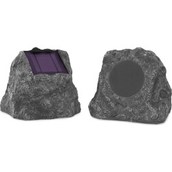 Innovative Technology Bluetooth Wireless Waterproof  Outdoor Rock Speaker Set, Multicolor