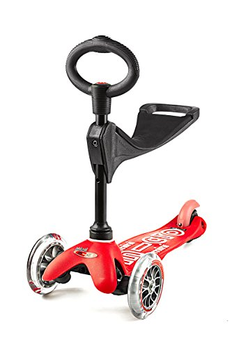 Micro Mini 3in1 Deluxe Kick Scooter (Red)