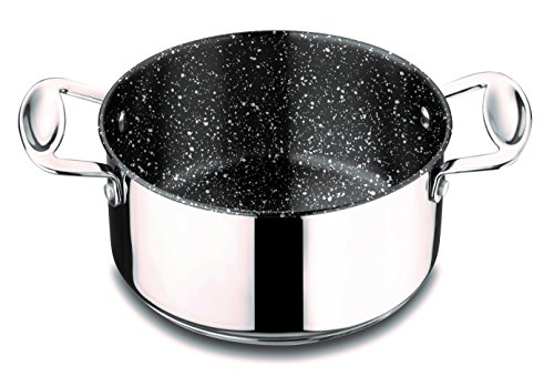 Mepra 30212120 Glamour Stone Casserole with Lid, 20cm, Stainless Steel