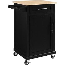 Carey Small Kitchen Cart – Black – Threshold