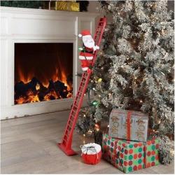 48 Winter Park Climbing Santa on Ladder with Music – Wondershop