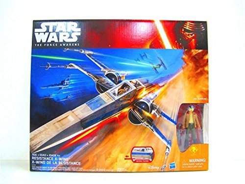 Star Wars: The Force Awakens, Exclusive Resistance X-Wing with Poe Dameron Action Figure