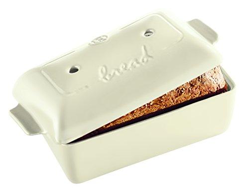 Emile Henry 505504 Bread Loaf Baker, 9.4″ x 5.9″ x 4.9″, Linen