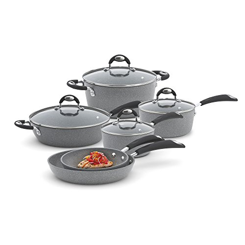 Bialetti 10-Piece Granito Cookware Set Gray