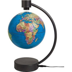 Stellanova Political Blue Ocean 6 Levitating Globe, Aquarium Blue