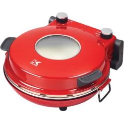 Kalorik High Heat Stone Pizza Oven, Red