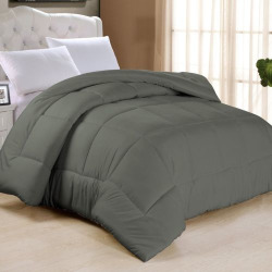 All Season Classic Light Warmth Down Alternative Comforter, Dark Grey