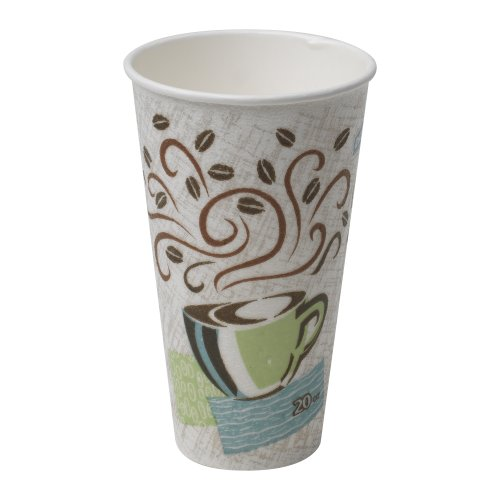 Georgia-Pacific PerfecTouch 5360CD WiseSize Insulated Paper Hot Cup, 20oz (Case of 500 Cups)