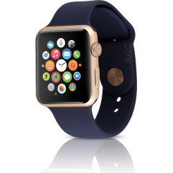 Apple Watch Sport Series 2 w/ 42mm Aluminum Gold Case – Midnight Blue (Refurbished)