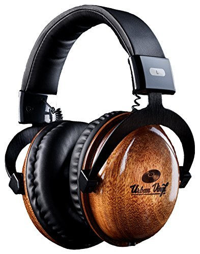 "Urban Vinyl Classics: Premium Genuine ""Thick"" Solid Wood Headphones (Studio Quality)"