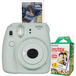 Fujifilm Instax Mini 9 Instant Camera Bundle, Grey