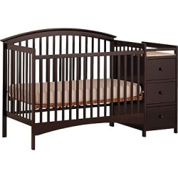 Storkcraft Bradford 4-in-1 Fixed Convertible Crib Changer – Espresso (Brown)
