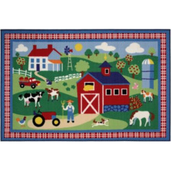 Fun Rugs Olive Kids Country Farm Rug, Multicolor