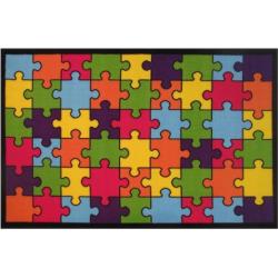 Fun Rugs Fun Time Jigsaw Puzzle Rug, Multicolor