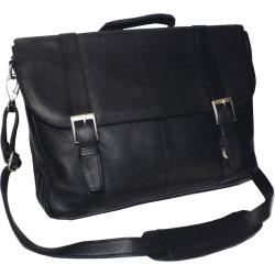 Royce Leather Vaquetta 17-in. Laptop Briefcase, Black