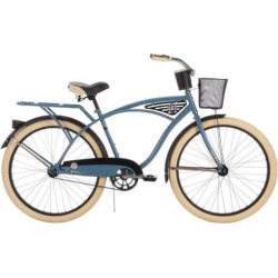 Men's Huffy 26-Inch Deluxe Classic Cruiser Bike, Blue
