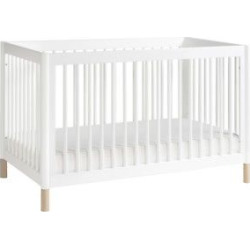 Babyletto Gelato 4-in-1 Convertible Crib with Toddler Bed Conversion Kit – White