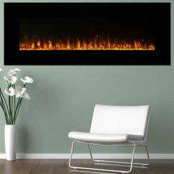 Northwest 54″ LED Fire & Ice Electric Fireplace & Remote, Black