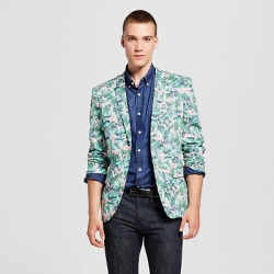 Wd·ny Black – Men's Floral Blazer – Pink/Green S, Multicolored