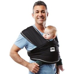 Baby K'tan Active Baby Carrier, Black, Medium