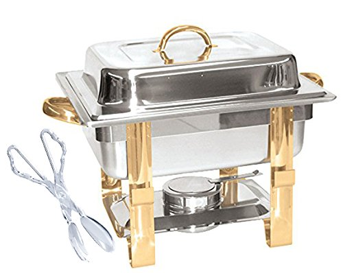 tigerchef half size chafing dish buffet warmer set gold accented includes - Allshopathome-Best Price Comparison Website,Compare Prices & Save