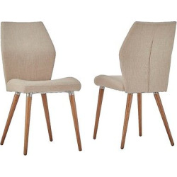 winona natural mid century angled chair set of 2 oatmeal inspire q - Allshopathome-Best Price Comparison Website,Compare Prices & Save