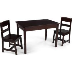 KidKraft Rectangle Table & Chair Set, Brown