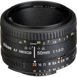 Nikon AF NIKKOR 50mm f/1.8D Lens (Refurbished) 2137B