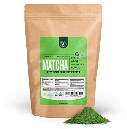 Jade Leaf Matcha Green Tea Powder – USDA Organic – Ceremonial Grade (For Sipping as Tea) – Authentic Japanese Origin – Antioxidants, Energy [1lb Bulk Size]