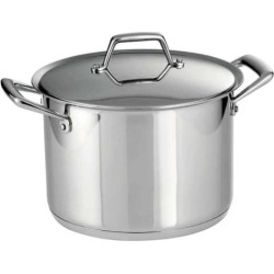 Tramontina Prima 8-qt. Stainless Steel Tri-Ply Covered Stockpot, Multicolor