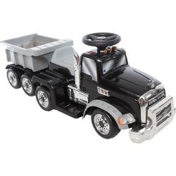 Wonderlanes 6V Mack Truck with Trailer Ride-on Vehicle, Multicolor