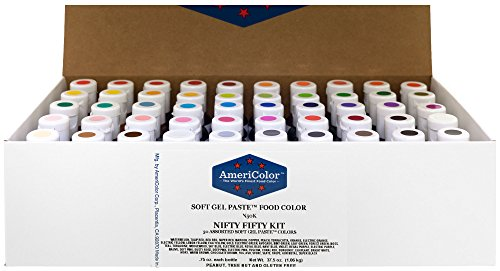 Food Coloring AmeriColor Nifty – Fifty Kit .75 Ounce Soft Gel Paste – 50 Pack