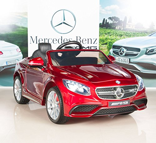 BIG TOYS DIRECT Mercedes-Benz S63 Ride on Car Kids RC Car Remote Control Electric Power Wheels W/ Radio & MP3 Red