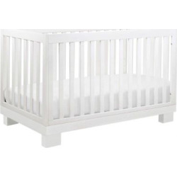 Babyletto Modo 3-in-1 Convertible Crib with Toddler Rail – White