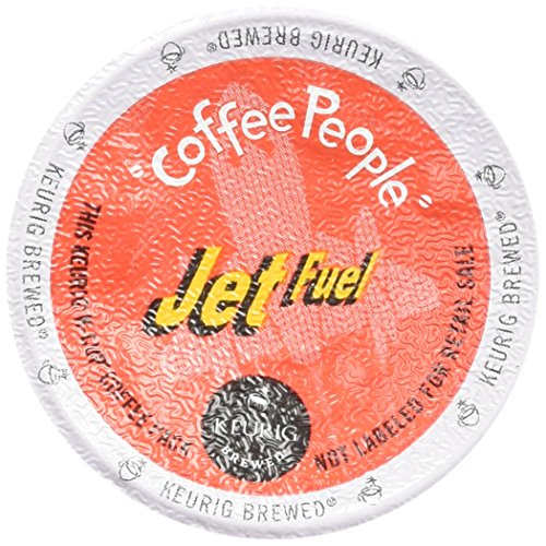 Coffee People Dark Roast, Jet Fuel, K-Cup Portion Pack for Keurig Brewers 24-Count