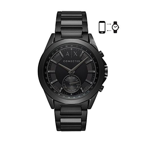 Armani Exchange Men's Quartz Stainless Steel Smart Watch, Color:Black (Model: AXT1007)