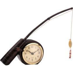 Sterling Rod 'N Reel Fishing Clock, Brown